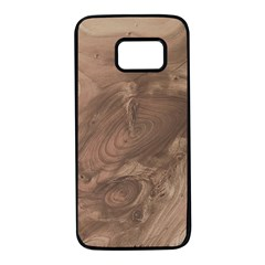Fantastic Wood Grain Soft Samsung Galaxy S7 Black Seamless Case by MoreColorsinLife