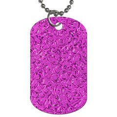Sparkling Metal Art D Dog Tag (two Sides) by MoreColorsinLife