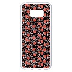 Roses Pattern Samsung Galaxy S8 Plus White Seamless Case