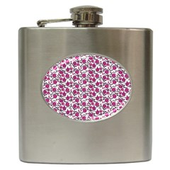 Roses Pattern Hip Flask (6 Oz) by Valentinaart
