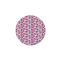Roses Pattern Golf Ball Marker (4 Pack)