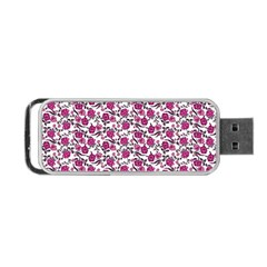 Roses Pattern Portable Usb Flash (one Side)