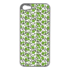 Roses Pattern Apple Iphone 5 Case (silver) by Valentinaart