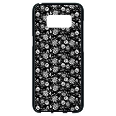 Roses Pattern Samsung Galaxy S8 Black Seamless Case