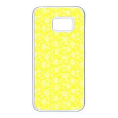 Roses Pattern Samsung Galaxy S7 White Seamless Case