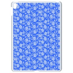 Roses Pattern Apple Ipad Pro 9 7   White Seamless Case by Valentinaart