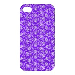 Roses Pattern Apple Iphone 4/4s Hardshell Case by Valentinaart