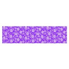 Roses Pattern Satin Scarf (oblong)
