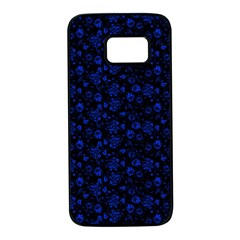 Roses Pattern Samsung Galaxy S7 Black Seamless Case by Valentinaart