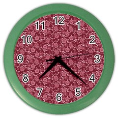 Roses Pattern Color Wall Clocks