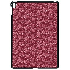 Roses Pattern Apple Ipad Pro 9 7   Black Seamless Case by Valentinaart