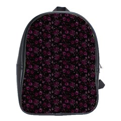 Roses Pattern School Bags(large)  by Valentinaart