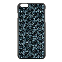 Roses Pattern Apple Iphone 6 Plus/6s Plus Black Enamel Case by Valentinaart