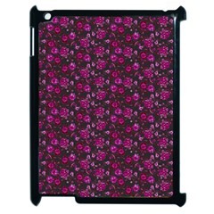 Roses Pattern Apple Ipad 2 Case (black) by Valentinaart