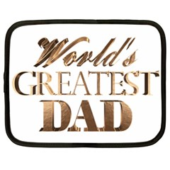 World s Greatest Dad Gold Look Text Elegant Typography Netbook Case (xl)  by yoursparklingshop