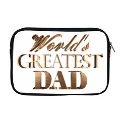 World s Greatest Dad Gold Look Text Elegant Typography Apple Macbook Pro 17  Zipper Case by yoursparklingshop