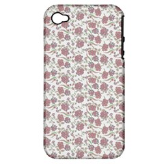 Roses Pattern Apple Iphone 4/4s Hardshell Case (pc+silicone)