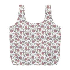 Roses Pattern Full Print Recycle Bags (l)