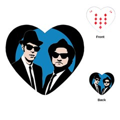 Blues Brothers  Playing Cards (heart)  by Valentinaart