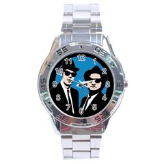 Blues Brothers  Stainless Steel Analogue Watch by Valentinaart