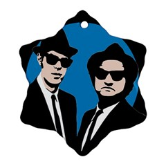 Blues Brothers  Snowflake Ornament (two Sides) by Valentinaart