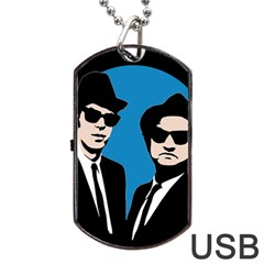 Blues Brothers  Dog Tag Usb Flash (one Side) by Valentinaart