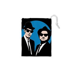 Blues Brothers  Drawstring Pouches (xs)  by Valentinaart