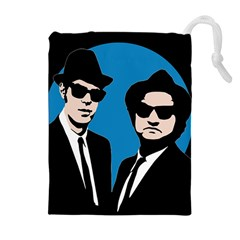 Blues Brothers  Drawstring Pouches (extra Large) by Valentinaart