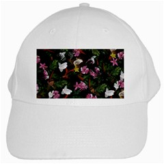 Tropical Pattern White Cap by Valentinaart