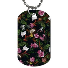 Tropical Pattern Dog Tag (one Side)