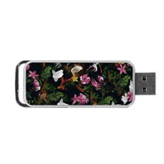 Tropical Pattern Portable Usb Flash (one Side)