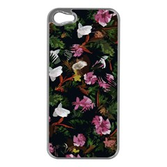 Tropical Pattern Apple Iphone 5 Case (silver) by Valentinaart