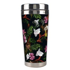 Tropical Pattern Stainless Steel Travel Tumblers by Valentinaart