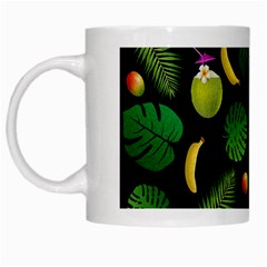 Tropical Pattern White Mugs by Valentinaart