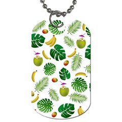 Tropical Pattern Dog Tag (one Side) by Valentinaart