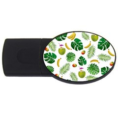 Tropical Pattern Usb Flash Drive Oval (2 Gb) by Valentinaart