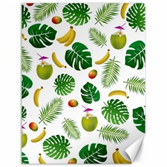 Tropical Pattern Canvas 12  X 16   by Valentinaart