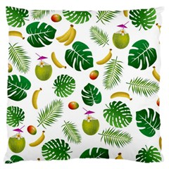 Tropical Pattern Large Cushion Case (two Sides) by Valentinaart