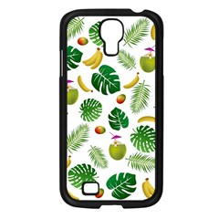 Tropical Pattern Samsung Galaxy S4 I9500/ I9505 Case (black) by Valentinaart