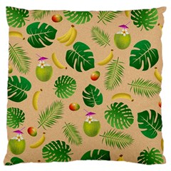 Tropical Pattern Large Cushion Case (one Side) by Valentinaart