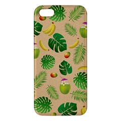 Tropical Pattern Iphone 5s/ Se Premium Hardshell Case by Valentinaart