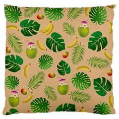 Tropical Pattern Large Flano Cushion Case (one Side)