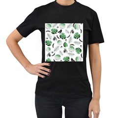 Tropical Pattern Women s T Shirt (black) by Valentinaart