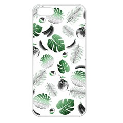 Tropical Pattern Apple Iphone 5 Seamless Case (white)