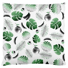 Tropical Pattern Large Flano Cushion Case (one Side) by Valentinaart