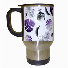 Tropical Pattern Travel Mugs (white) by Valentinaart