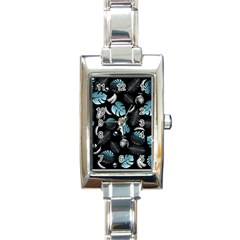 Tropical Pattern Rectangle Italian Charm Watch by Valentinaart