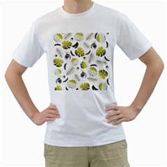 Tropical Pattern Men s T Shirt (white) (two Sided) by Valentinaart