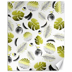 Tropical Pattern Canvas 11  X 14   by Valentinaart