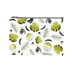 Tropical Pattern Cosmetic Bag (large)  by Valentinaart